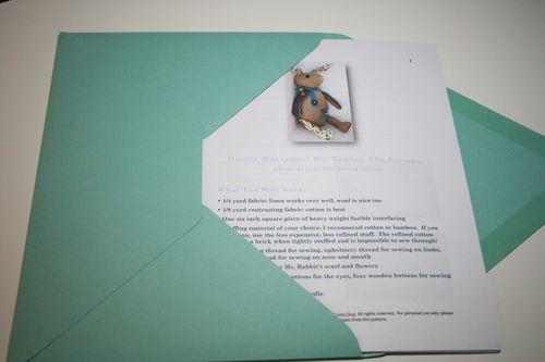 Rabbit pattern in envelope