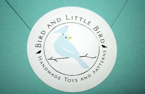 Bird and little bird sticker