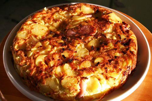 Potato onion fritatta