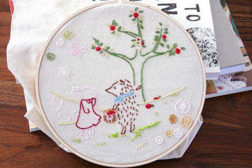 Hedgehog embroidery