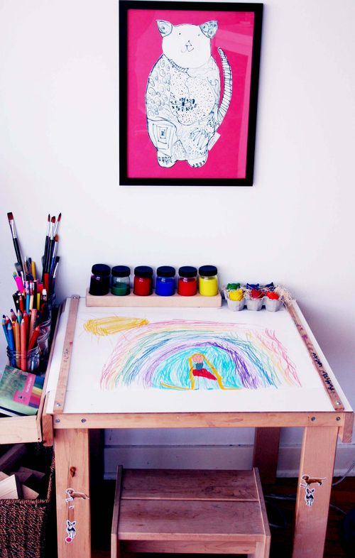 Mariam's art table 2