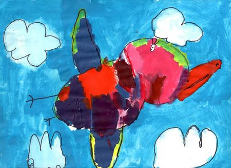 Mariam's bird in flight