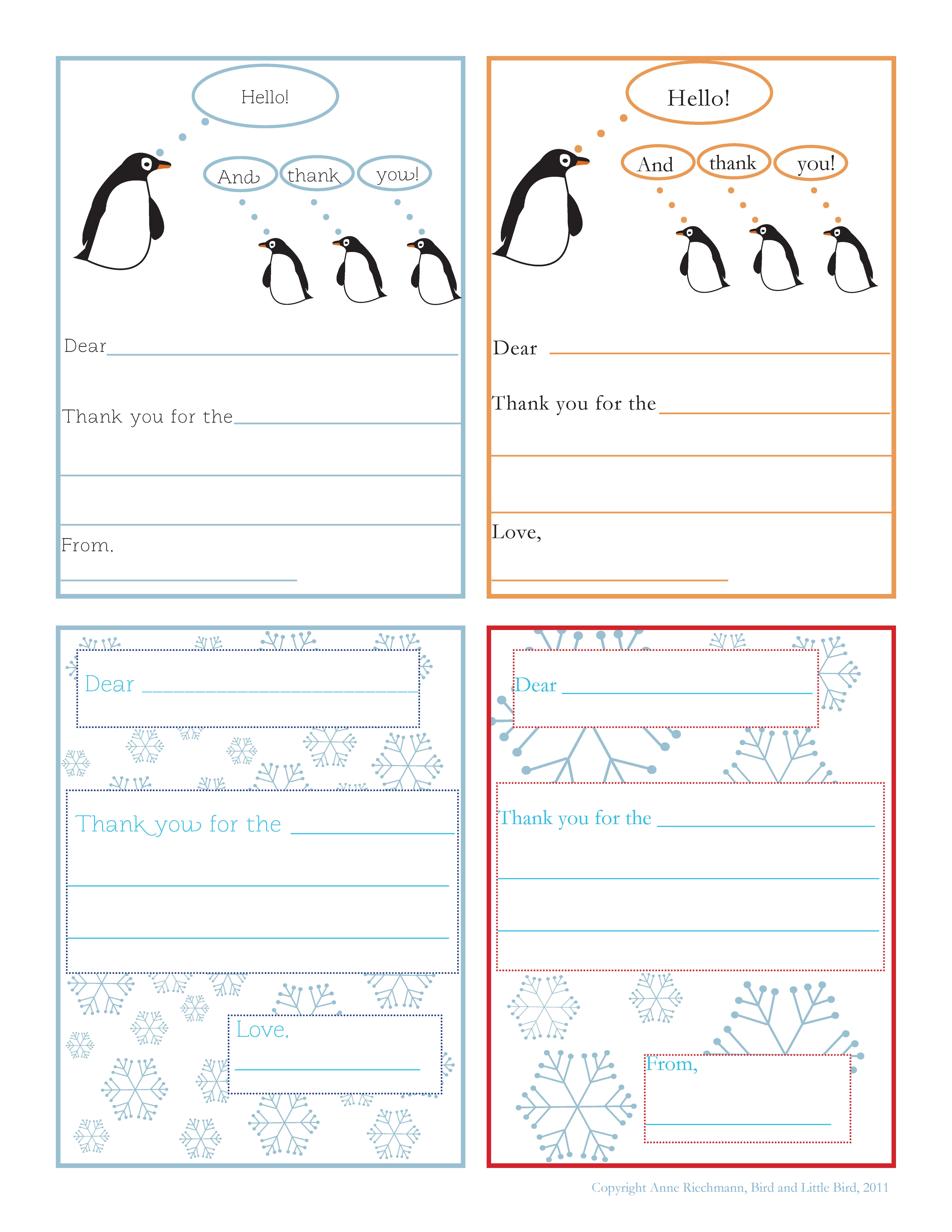 graphic about Thank You Notes Printable identify Tis the Year (Printable Thank Oneself Notes for Little ones). - Fowl